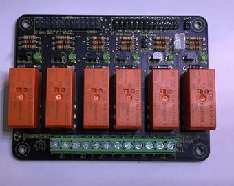 nwazet Pecan Pi Relays - Raspberry Pi 6 Relay Board