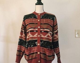 VINTAGE 80's Southwestern Sweater