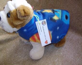 "9"" Space Themed Soft Fleece Dog Jacket"