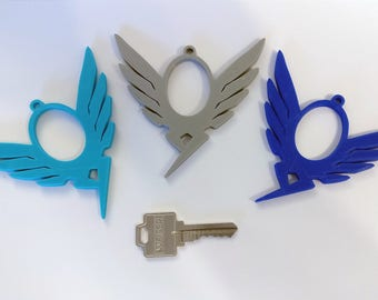 Mercy Keychain / Charm (Pair) from Overwatch