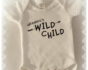 Grandpa's wild child onesie