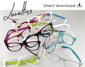 Paper cutting template glasses