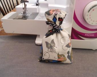 Organic Lavender Butterfly bag