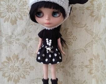 "Blythe outfit ""Black Kitty"""