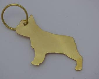 french bulldog key ring,french bulldog key fob,dog key rings,Brass, key rings,dog tags, pet gifts,French Bulldog