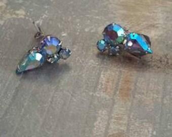 Stunning Coro vintage 1940s glam earrings