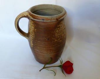 Former pitcher enamelled sandstone - jar of campaign - pottery - home & furniture - vintage kitchen tableware - sandstone vintagefr.