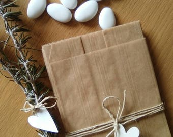 "Paper bag for ""confettata"". Paper bag. Craft bag. Bag confetti. Wedding bag."