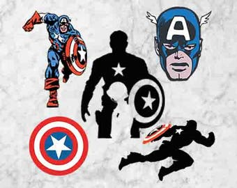 Captain America Svg, Clipart, The avengers captain america eps and png files, Captain america cutfiles, Captain america cut file for cricut