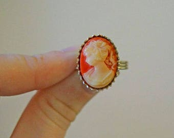 Vintage Cameo Adjustable Ring
