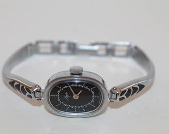 Black Face Womens Watch Bracelet Luch (Ray). Rare Ladies watch. Russian Womans Watch. Mechanical wristwatch. Retro Watch For Women. Gift Her