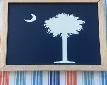 South Carolina Flag Sign