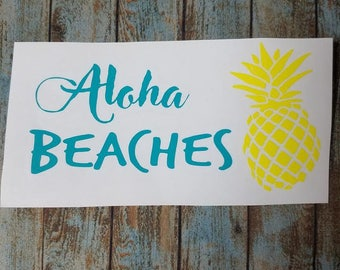 Aloha Beaches decal