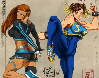 OC lily and chun-li (street fighter)