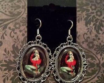 Zombie Pin Up Girl Earrings