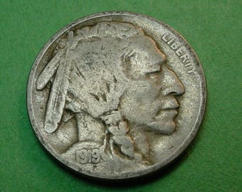 1919 Buffalo Nickel  Very Fine  FREE SH In United States # ET137