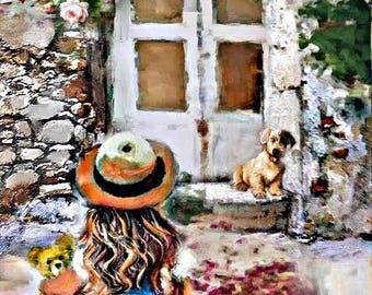 """A4 Print of original art """"WELCOME HOME"""""""