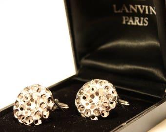 LANVIN PARIS 1960-70 vintage cuff links of cufflinks Couturier modernist