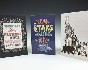 Greeting Cards - Set of Three