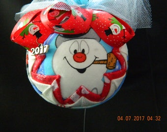 Quilted Ornament:  Frosty the Snowman