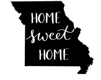 Home Sweet Home MO Print