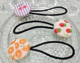 Fruit Themed Hair-Ties