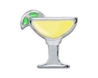 Floating Charm Margarita Glass