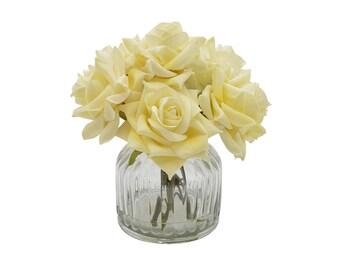 Soft Cream Rose Bouquet