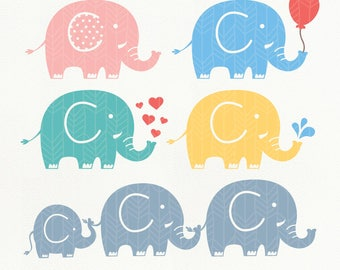 Elephant SVG Files, Elephant dxf, png, eps, Silhouette Studio, Cutting File