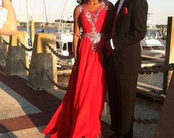 Jeweled Prom Dress