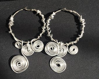 Hand crafted wire earrings