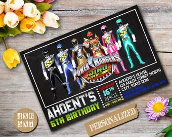 Power Ranger Invitation / Power Ranger Birthday / Power Ranger Birthday Invitation / Power Ranger Party / Power Ranger Printable-423