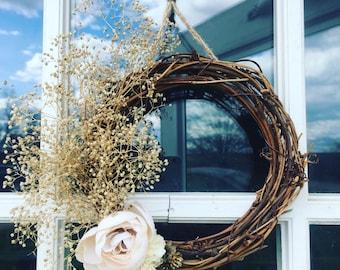 "6"" miniture minimalist wreath"