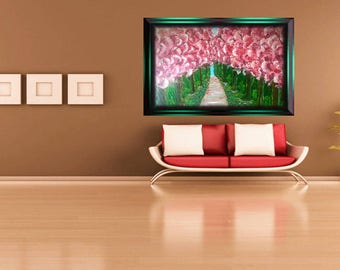 Cherry blossom painting  1(Free Shipping )