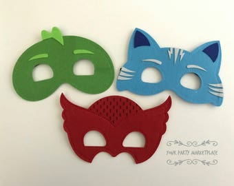 SET OF 3 PJ Mask Party, Pj Mask Birthday, Pj Mask Party Favors, Pj Masks
