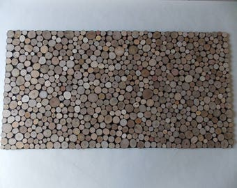 Slices of wood, wall decoration, wall art wood,