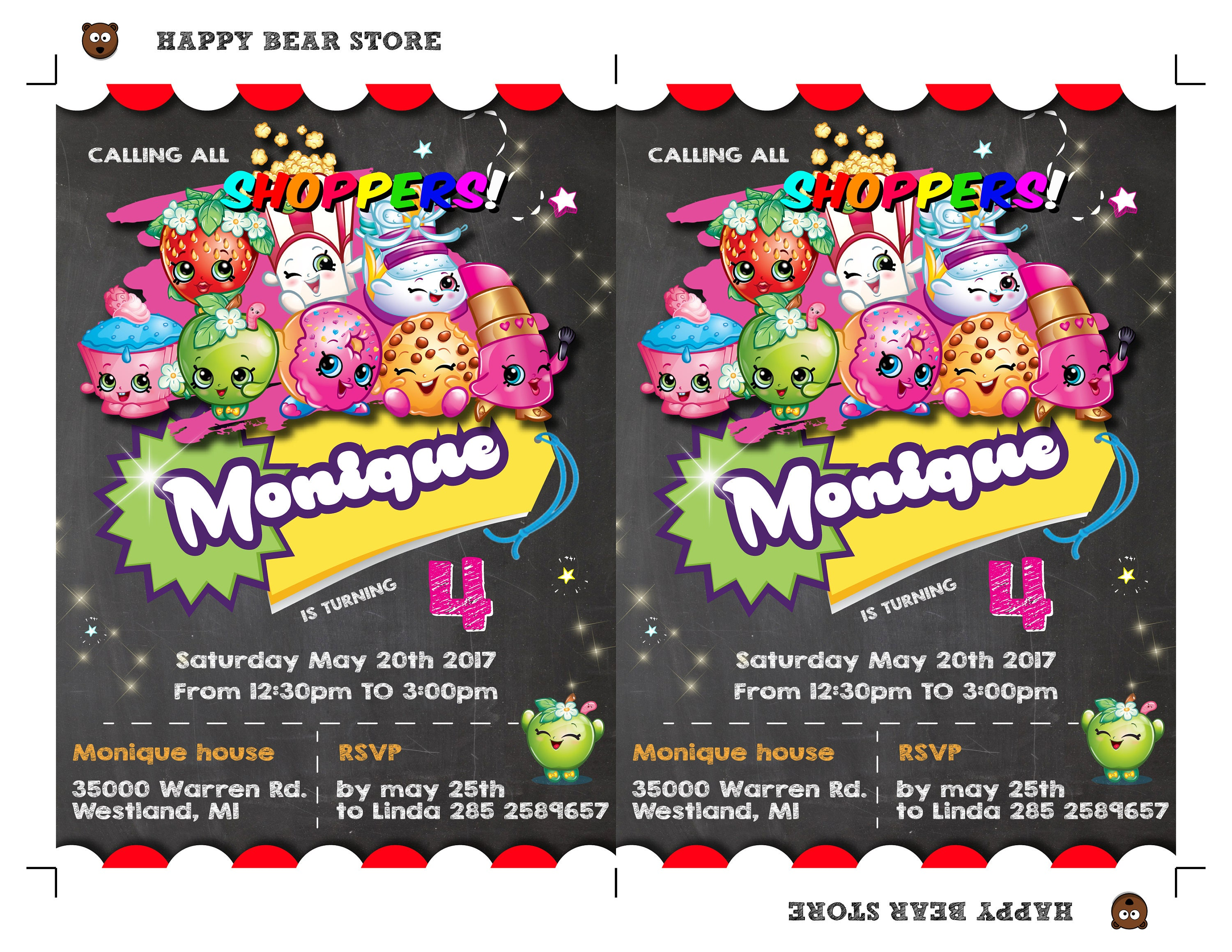 Updated Free Printable Shopkins Birthday sample resume with reference