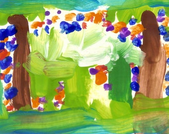Jungle - Rain Forest - Impressionistic Painting - Print from Original Watercolor Painting by Matthew T. Rogers