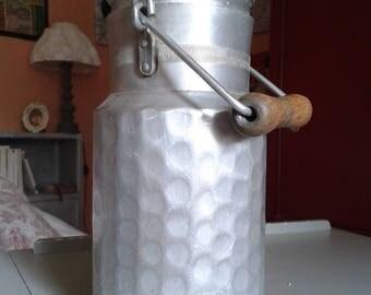 hammered aluminum milk pot