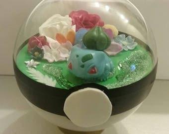 Bulbasaur Pokeball Terrarium **FREE SHIPPING**