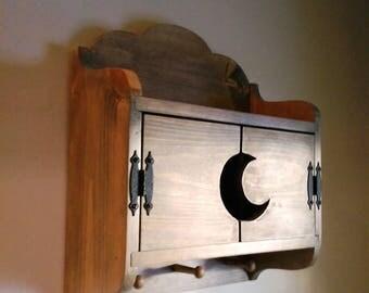 Bad Moon Rising - Shaker Peg Wall Hung Shelf