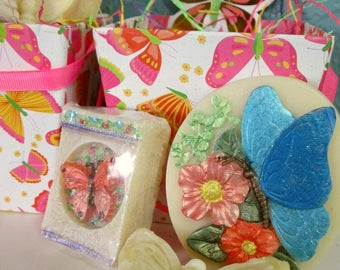 Butterfly Themed Soaps in Bright Butterflies Box