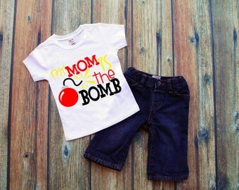 FREE SHIPPING***My mom is the BOMB, Mommas Boy.