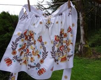Vintage cotton print apron