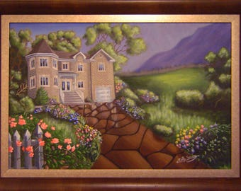 House and Landscape Painting POSTER Print