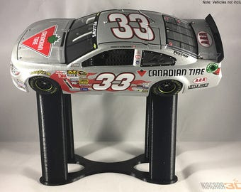 Angled Riser Stands for Car/Truck Models and Diecasts - 1:24 scale - Show Off Your Man Cave Collection of Nascar, Muscle Cars, Vintage Cars