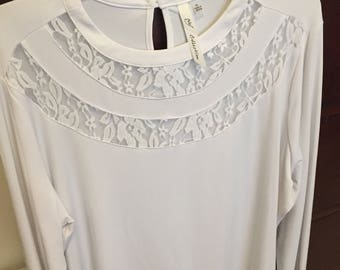 New NY collection white blouse