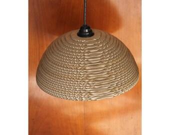 Lamp design hemisphere cardboard