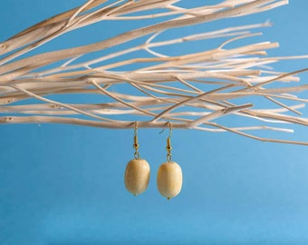 Beige Coral Earrings, Chic Coral Earrings, Natural Sponge Coral Drops, Gift for Colleague, Profits Donated to Charity