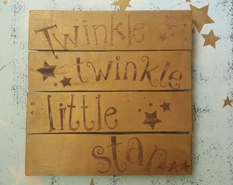 Gold Twinkle Twinkle Sign
